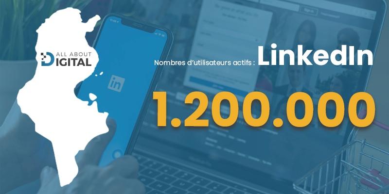 nombre d'internaute linkedin tunisie
